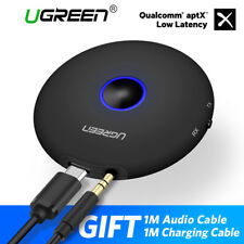 Ugreen aptx Bluetooth 4.2 Transmitter Receiver Wireless Adapter 3.5mm Fr Speaker