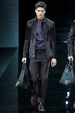 Emporio Armani Calf Hair Leather Jacket EU52 Large / XL Black RRP£2830 coat Pony