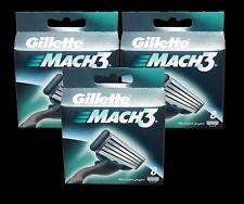 24 Gillette Mach3 Mach 3 Klingen 3x8 = 24 Stück ORIGINAL Gillete Gilette Set OVP