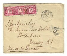 palestine cover to jersey - postage to pay/postage due Haifa TPO 1925 unusual
