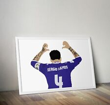 Sergio Ramos, Real Madrid, Print, Poster, wall art, gift, home decor