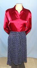 Timeless & Classic  Sag Harbor Lavender Blue Print A-Line Skirt Plus Size 18W