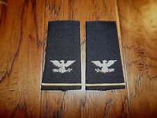 NEW U.S MILITARY EPAULETS ARMY COLONEL RANK SHOULDER BLACK IN COLOR U.S MADE