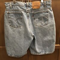 Vintage Levi's 560 Loose Fit Orange Tab Denim Jean Shorts Mens Size 38 x 11 Ins