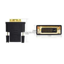 24+1Pin DVI Male to HDMI Female adapter Gold-Plated M F Converter For HDTV LCD L