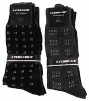 6 Pairs Mens Dress Socks Polyester 10-13 Gray Black Brown Navy Business Fashion