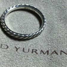 David Yurman 3mm cable band ring 925 sterling silver size 6.75