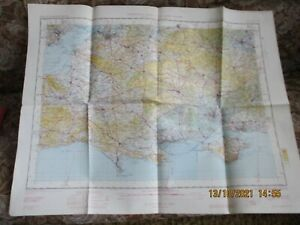 ORDNANCE SURVEY TOPOGRAPHICAL AIRMAP OF THE UK SHEET 19 ENGLAND SOUTH 1955