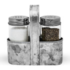 Farmhouse Salt and Pepper Shakers with Caddy Set by Saratoga Home