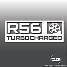 1x Mini Cooper S R56 Turbocharged Car Vinyl Decal Sticker GP JCW Clubman
