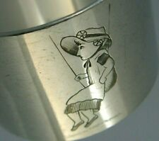 More details for beautiful silver plate napkin ring kate greenaway design c1880-1890 english
