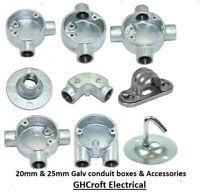 20mm Galv Conduit boxes & Accessories - BUY 1 , GET 1 @ 10% DISCOUNT & FREE P&P