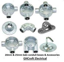 20mm Galv Conduit boxes & Accessories - ** MULTI BUY & FREE P&P **