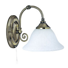Searchlight Virginia Traditional Brass White Glass Wall Fitting Bracket Light