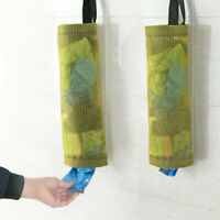 JW/_ Plastic Bag Holder Dispenser Hanging Storage Garbage TrashBag Kitchen Orga