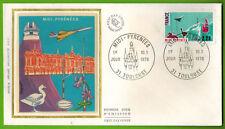 1976-enveloppe Soie 1°Jour**Concorde-Midi-Pyrénées--Obl.Toulouse-Timbre-Yv.1866
