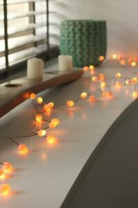 Teardrops - Peach - 60 LED Indoor Light Chain-Built In Timer - Battery Powered