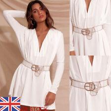 Women's PVC Clear Transparent Belt Metal Ring Buckle Clothes Access Fashion