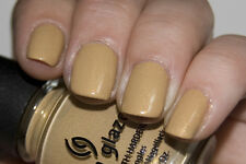 NEW! China Glaze Nail Polish Lacquer in CLASSIC CAMEL ~ Khaki creme Gold Shimmer
