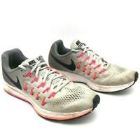 Nike Womens Air Zoom Pegasus 33 Running Shoes Gray Low Top Lace Up 831356-006 9