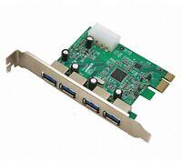 4 Port USB 3.0 PCI Express Card PC Karte Computer Controller Hub PCIe Adapter