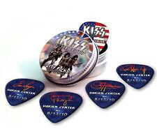 Darien Center City X 5 Kiss Guitar Picks Collection In Tin