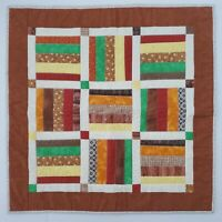 Hand Signed Dated 2007 Warren Moran Quilt Block Wall Hanging Art 2'x2'