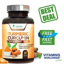 TURMERIC CURCUMIN MAX Potency With Bioperine Black Pepper 1950 Mg 120 Capsules