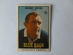 Scanlens 1968 Rugby League Card # No 30 Bobby Keyes Newtown Jets Blue Bags NRL