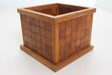Flower Pot Planter Wood Handmade Individual Piece Mosaic (24)