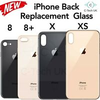 Back Rear Glass Replacement Battery Cover For iPhone 8, 8 +, X, XS, Easy Fit, UK