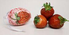 Strawberry plastic fillable easter egg surprise egg easter red kitchen decor