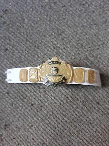 Wwe Mattel White Strap Winged Eagle Basic Title Belt Wwf Nxt