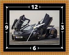 McLaren P1 Super Voiture Horloge Murale Cadeau Noël Anniversaire (peut être personnalisé)
