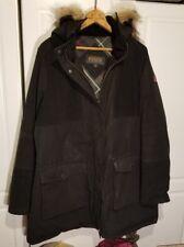 Womens Pendleton Real Fur Trim Coat Parka Size M Black XL Extra Large