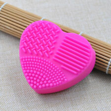 10Pcs Mixed Heart Shape Makeup Brush Cleaner Scrubber Cosmetic Cleaning Pad Tool