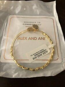 "ALEX AND ANI ""MAJESTY METAL"" ~SHINY GOLD Bangle Adjustable Bracelet ~ NWT & CARD"