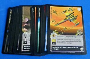 MULTI-LIST OF STAR WARS JEDI KNIGHTS FIRST DAY TCG/CCG SILVER & GOLD FOIL CARDS