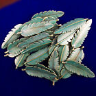 15Pcs Weight 45g Carved Brass Bronze Feather Pendant Bead 45x15x3mm S-36PJ