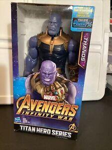 "2018 Hasbro AVENGERS INFINITY WAR Titan Hero Series 12"" THANOS Figure POWER FX"