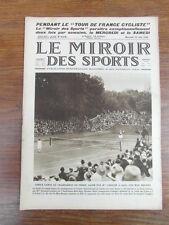 LE MIROIR DES SPORTS No 318 année 1926 : SUZANNE LENGLEN vs MARY BROWN R.GARROS
