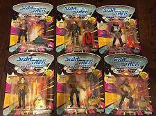 Lot of 6 Collectable Star Trek The Next Generation Figures Borg Data Work Geordi