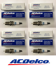 New Set of 4 ACDELCO Double Platinum Spark Plugs 41801 - MADE IN USA