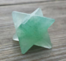 NATURAL GREEN AVENTURINE GEMSTONE MERKABA STAR (ONE)
