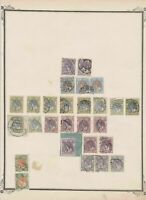 netherlands stamps on album page  ref 13534