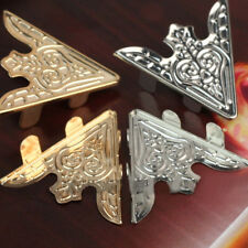 2Pairs Retro Antiqued Punk Metallic Blouse Shirt Metal Collar Clips Wing Tips