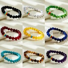 Multicolor Men Women Natural Stone 8mm Bracelet Yoga Beads Bracelet Jewelry Gift