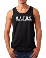 Men's Tank Top MATHS Funny School Slogan Definition T-Shirt Back To College Tee