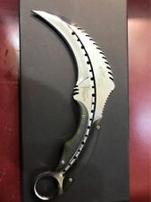 Karambit Fixed Blade Knife Mirror Light Karambits Claw Camping Hunting Knives
