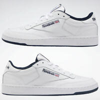 Reebok SIZE 12 Mens Trainers Club C 85 AR0457 LEATHER Shoes Intense white/Navy